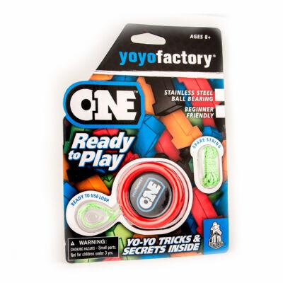 YoYoFactory One blister yo-yo piros