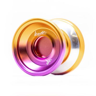 YoYoFactory Shutter WA Bimetal Style yo-yo, lila-arany