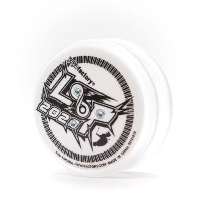 Loop 2020 LED yo-yo, áttetsző/fehér